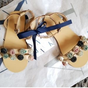 Janie and Jack Girls Leather sandals